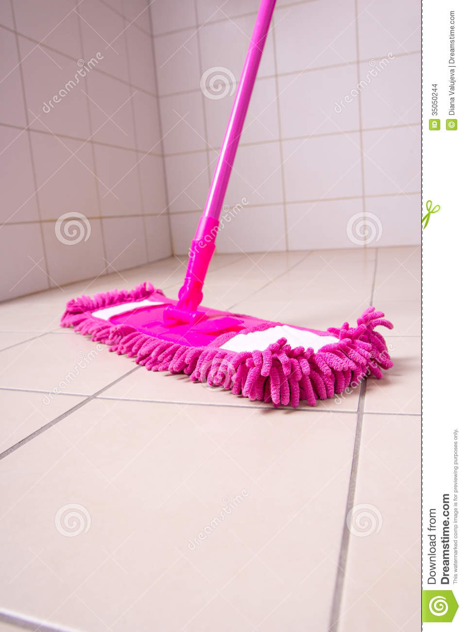 Pink mop cleaning tile floor in bathroom stock photo image 35050244 pink mop cleaning tile floor in bathroom dailygadgetfo Images