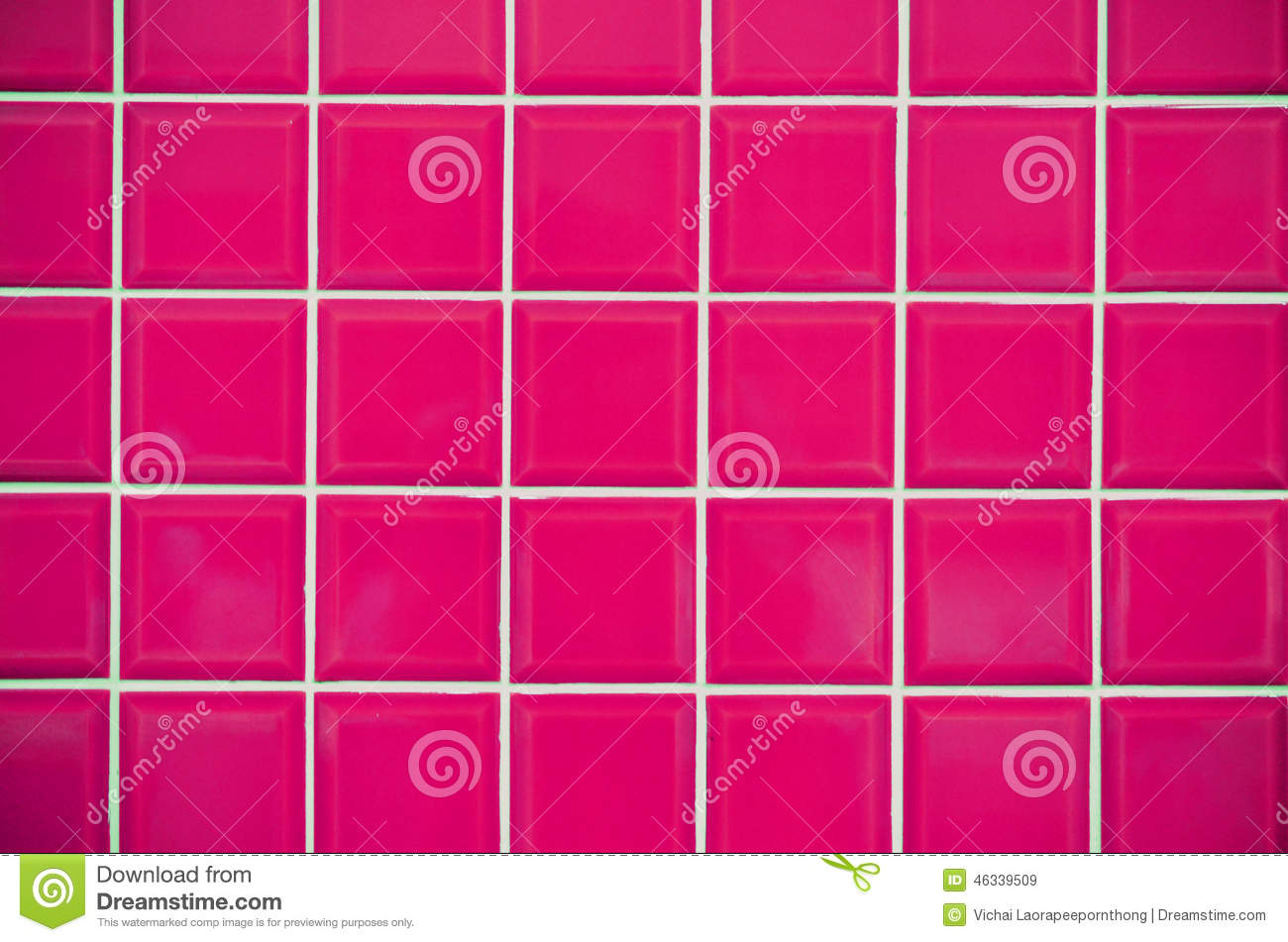 Pink Mosaic Tiles Texture Stock Photo Image 46339509