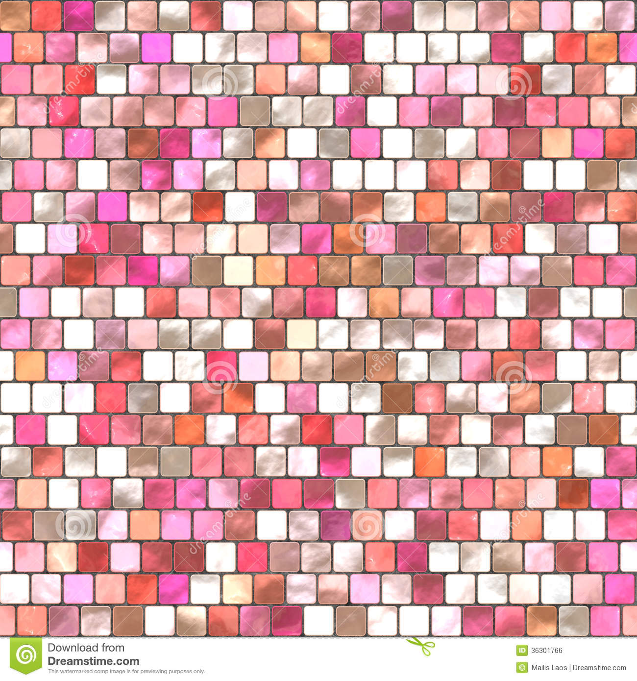 Download Pink Mosaic Tiling stock illustration. Illustration of tile - 36301766