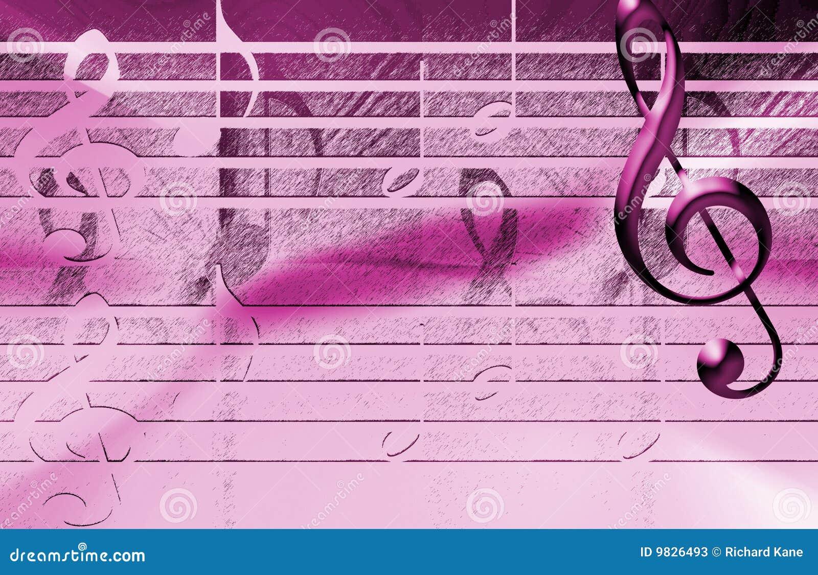 Pink Music Wallpaper: Pink Music Background Stock Illustration. Image Of