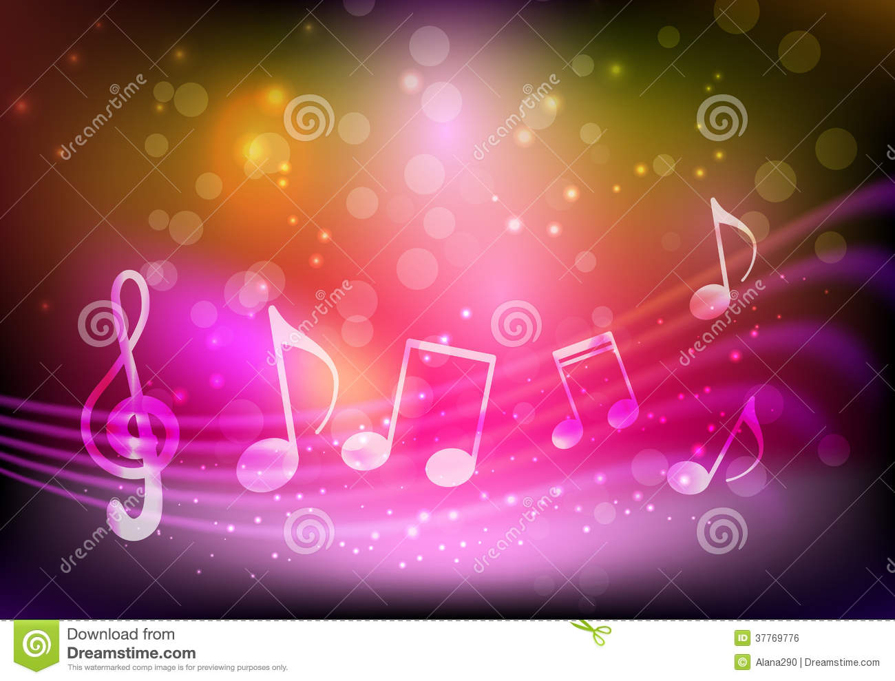 Pink Music Wallpaper: Pink Music Background Stock Vector. Image Of Glowing