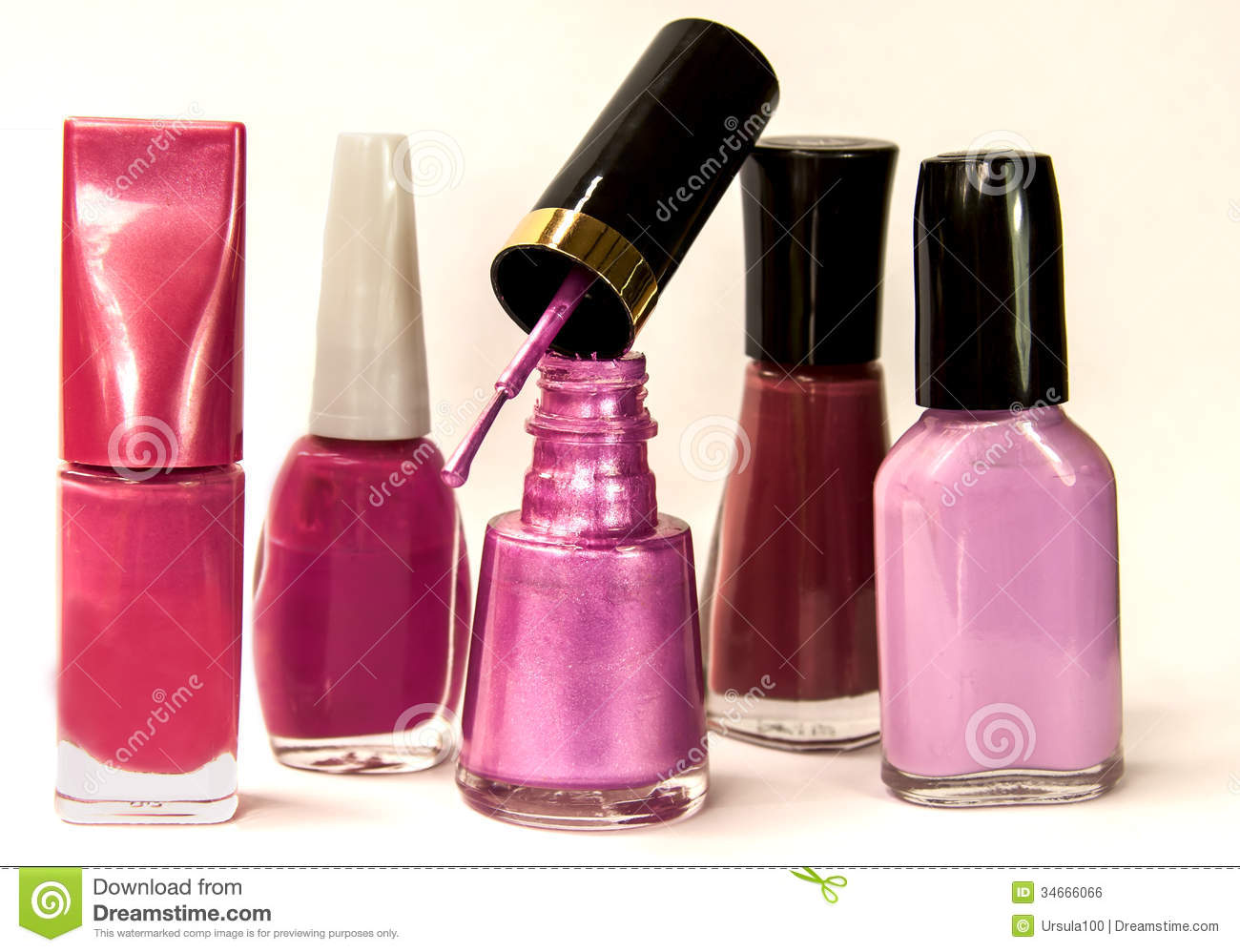 Pink Nail Polish Bottles Royalty Free Stock Image - Image: 34666066 Nail Polish Bottles Clipart