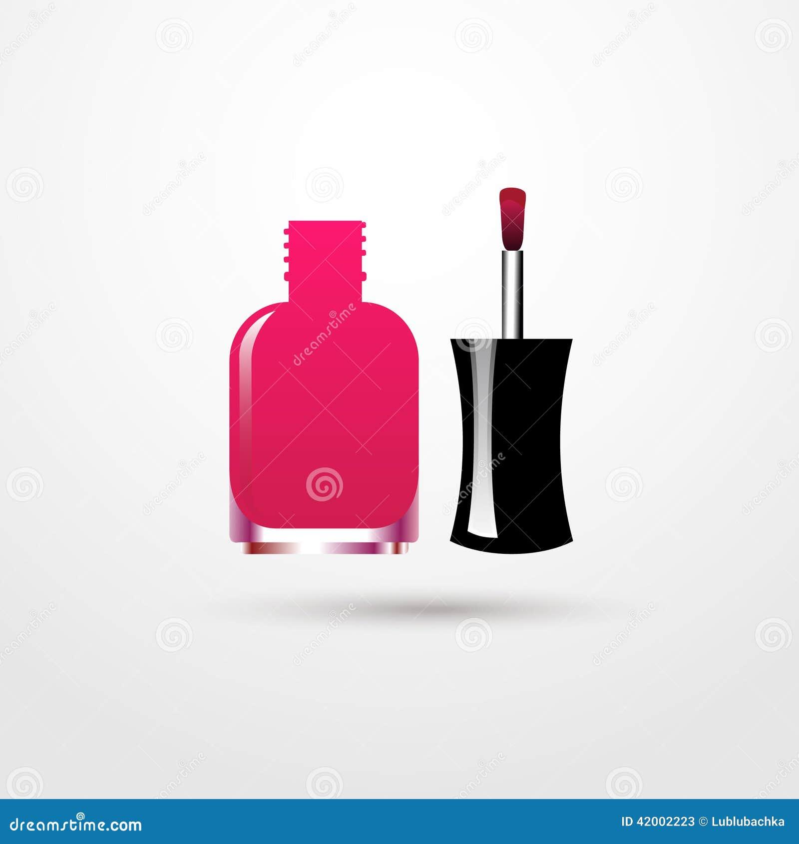 Pink Nail Polish Open Bottle Isolated On White Background Stock Vector Illustration Of Girly