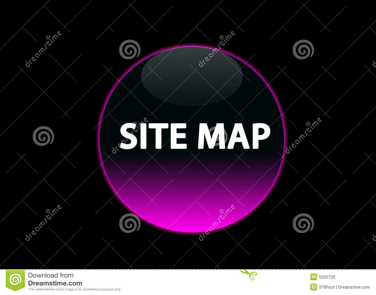 Pink neon buttom site map