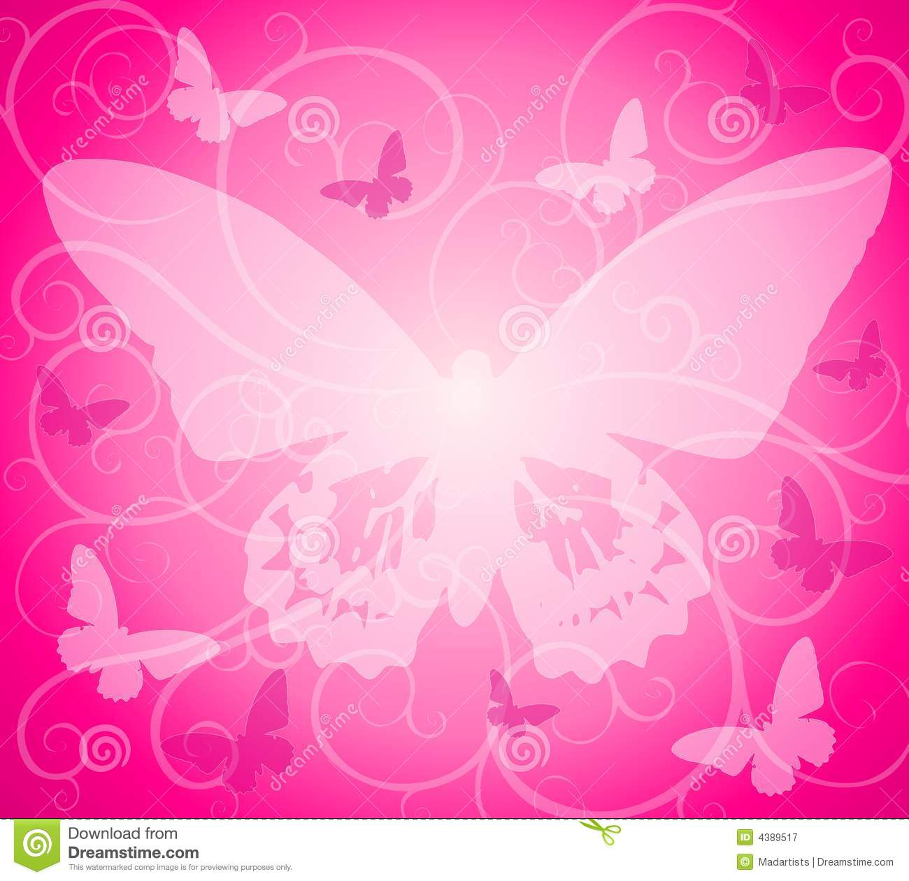 Pink Butterfly Wallpaper: Pink Opaque Butterfly Background Stock Illustration