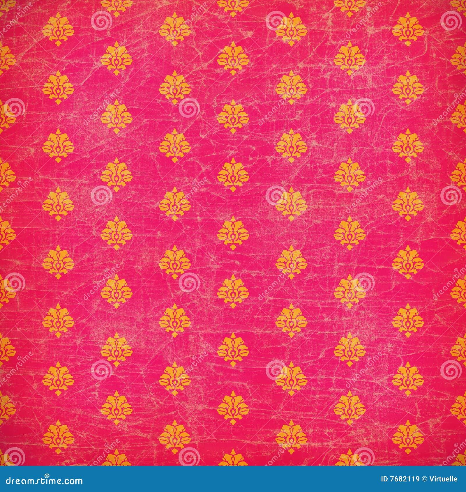 pink and orange damask grunge wallpaper royalty free stock. Black Bedroom Furniture Sets. Home Design Ideas