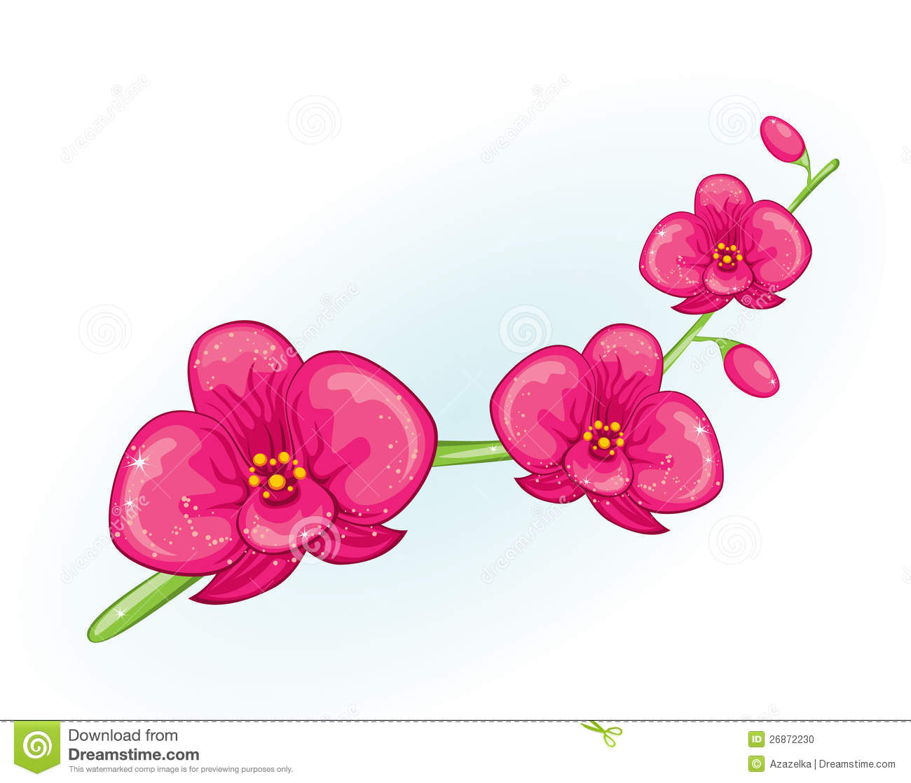 Pink Orchid Branch Stock Photo - Image: 26872230