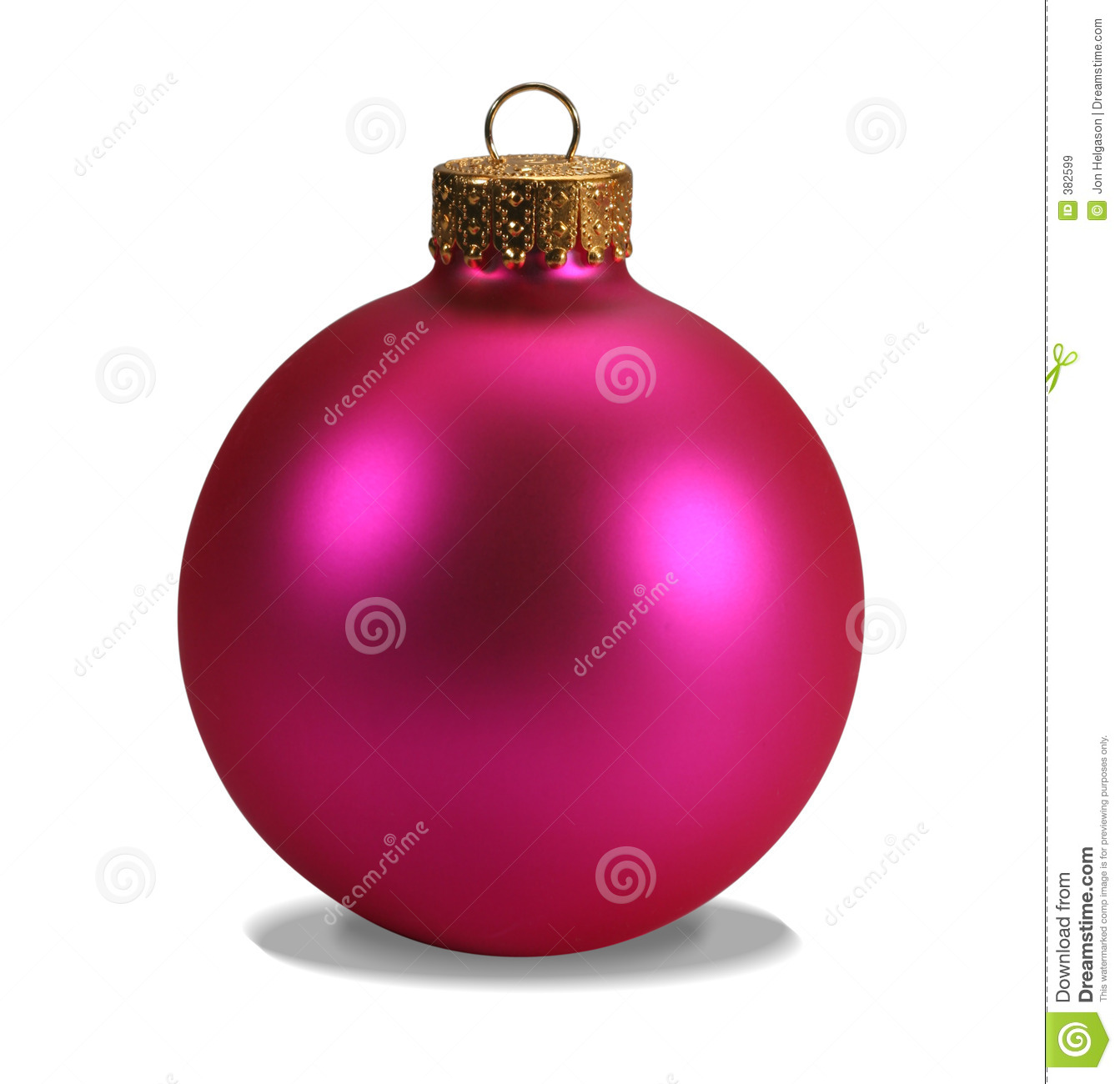 Pink Ornament With Clipping Path Stock Image Image Of Shiny Over