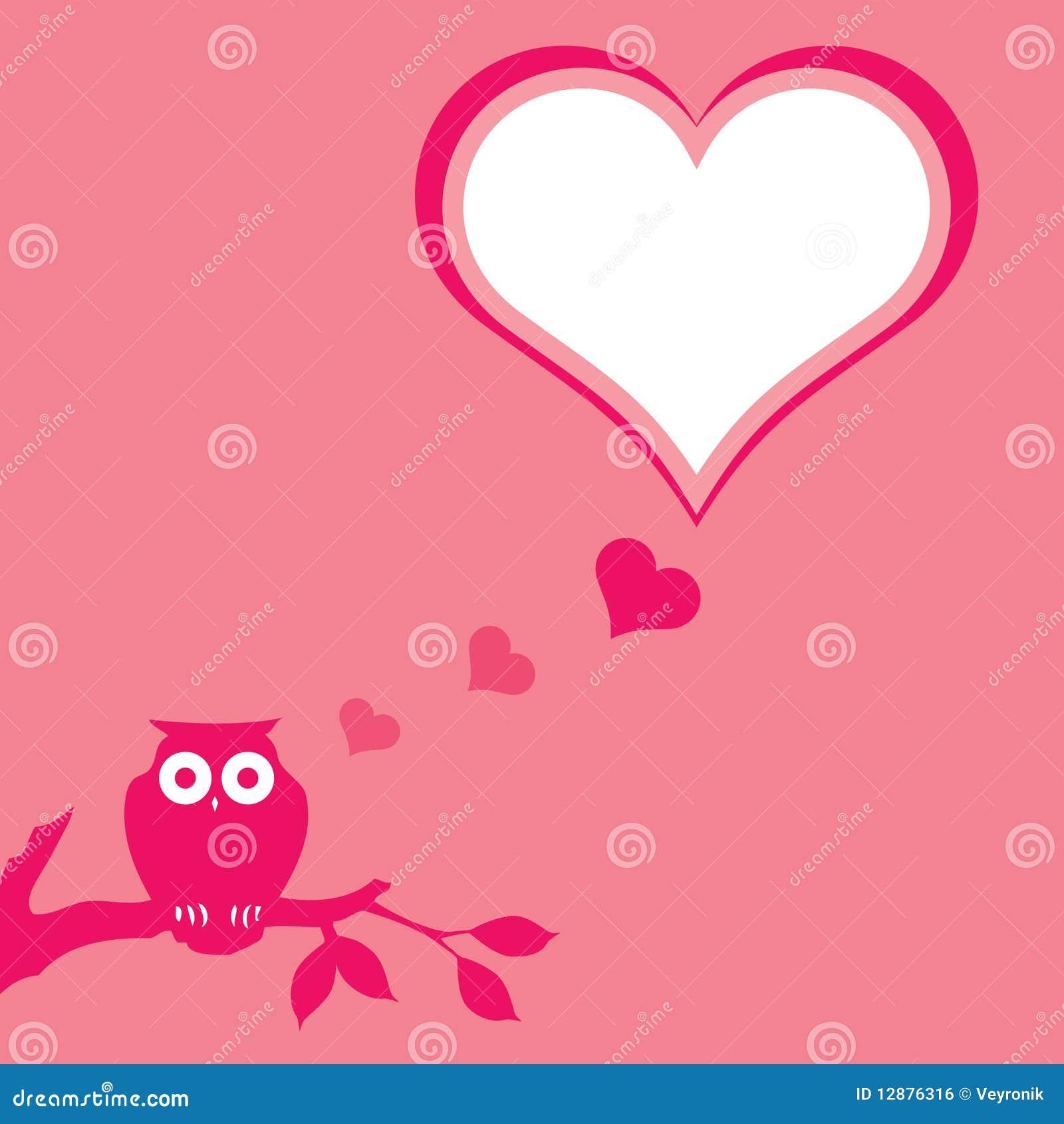 Pink Owl Background Royalty Free Stock Image Image 12876316