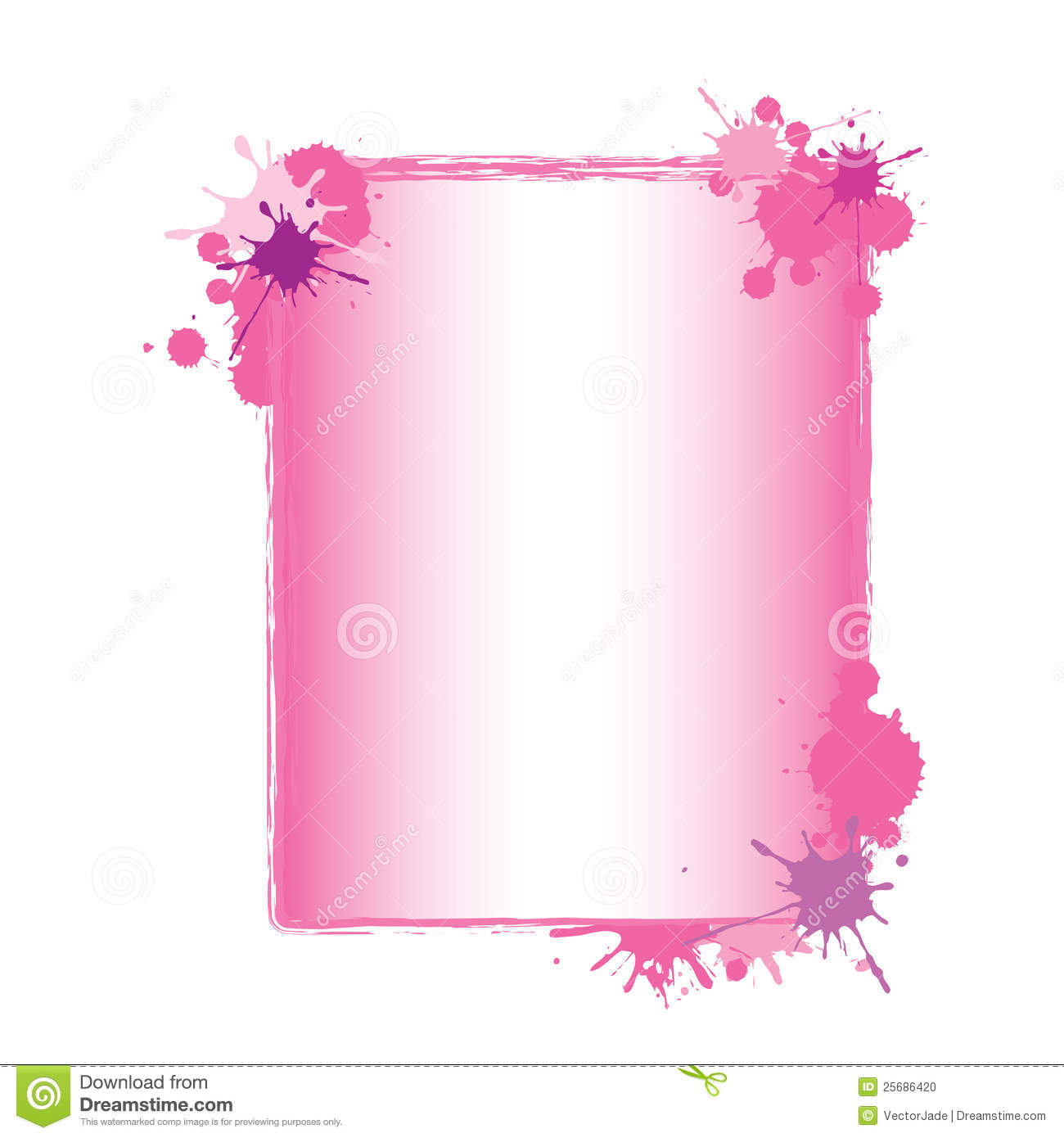 pink paint splash frame stock photo image 25686420