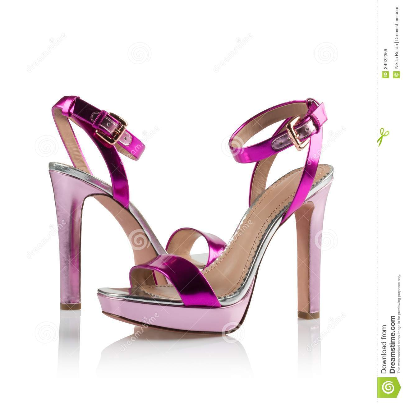 pink pair of shoes royalty free stock images image