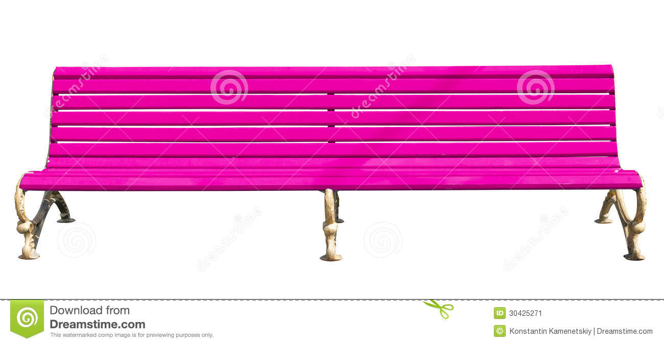 Pink Park Bench Stock Image Image 30425271