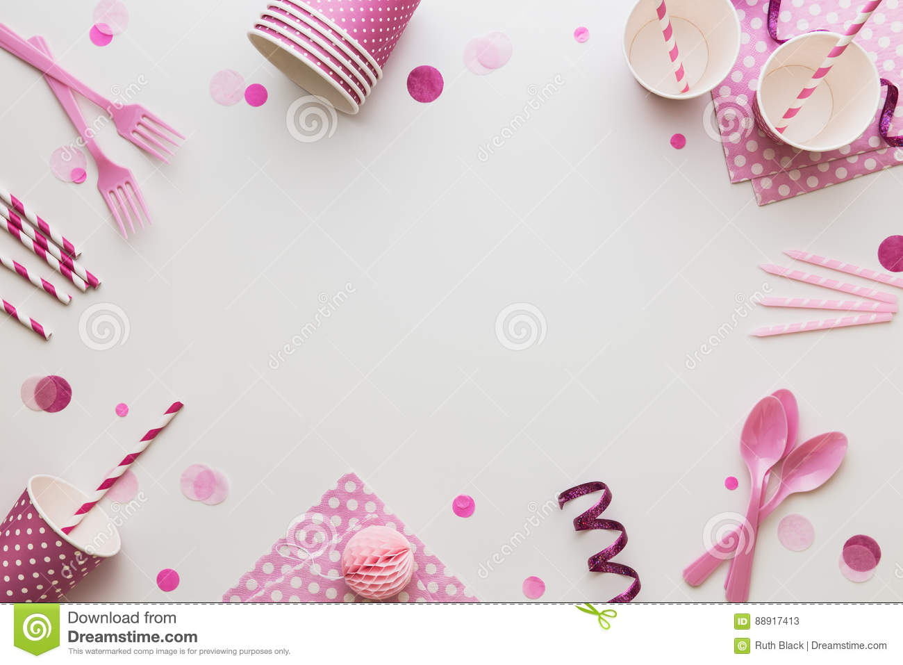 pink party background stock image image of decoration 88917413