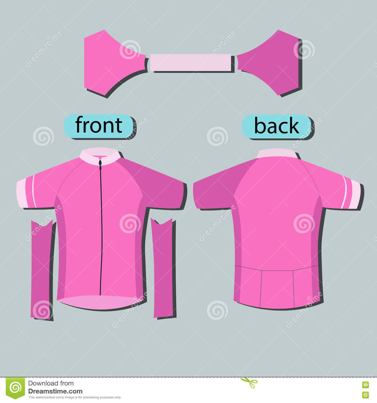 Pink Pattern Cycling Jerseys Template Stock Vector - Illustration of ... 8b49e610c