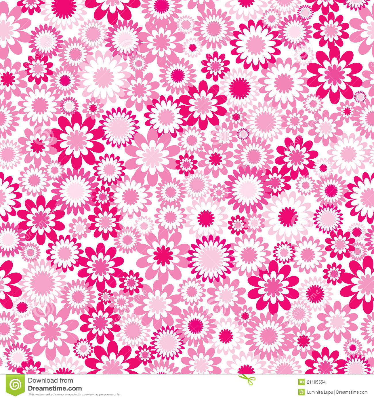 Pink pattern with flowers