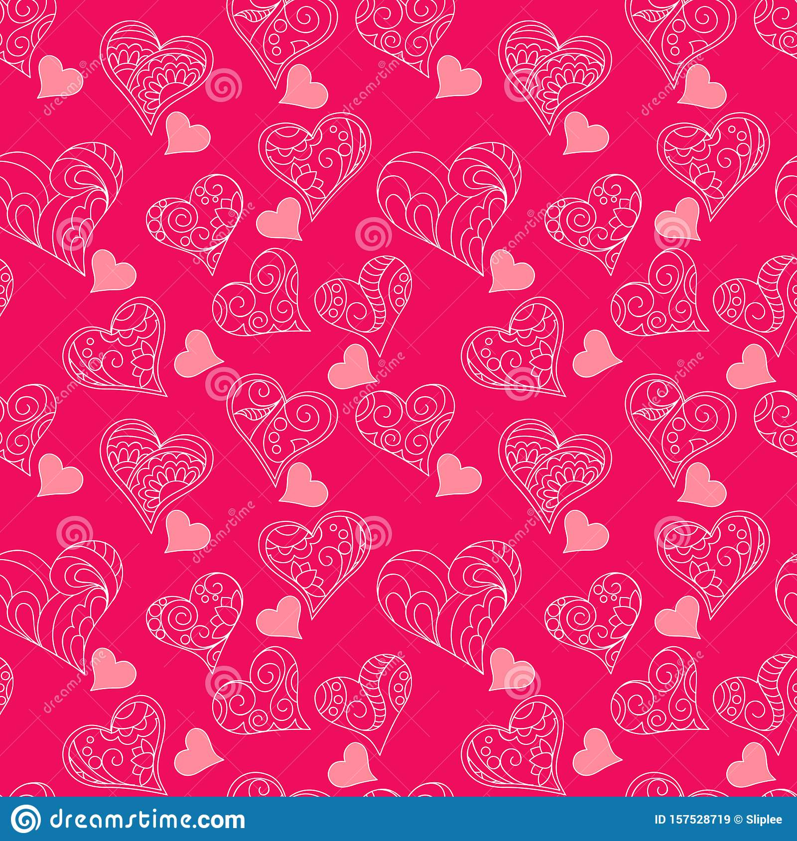 Pink pattern of hearts
