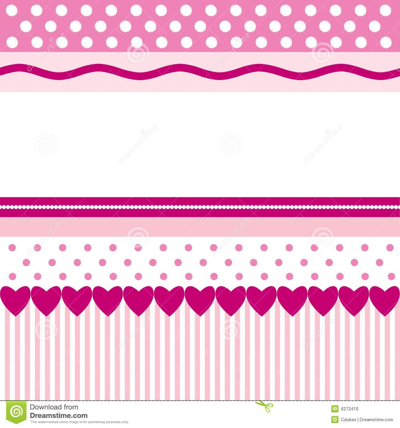 Bright pink patterns as background image with blank space for text.
