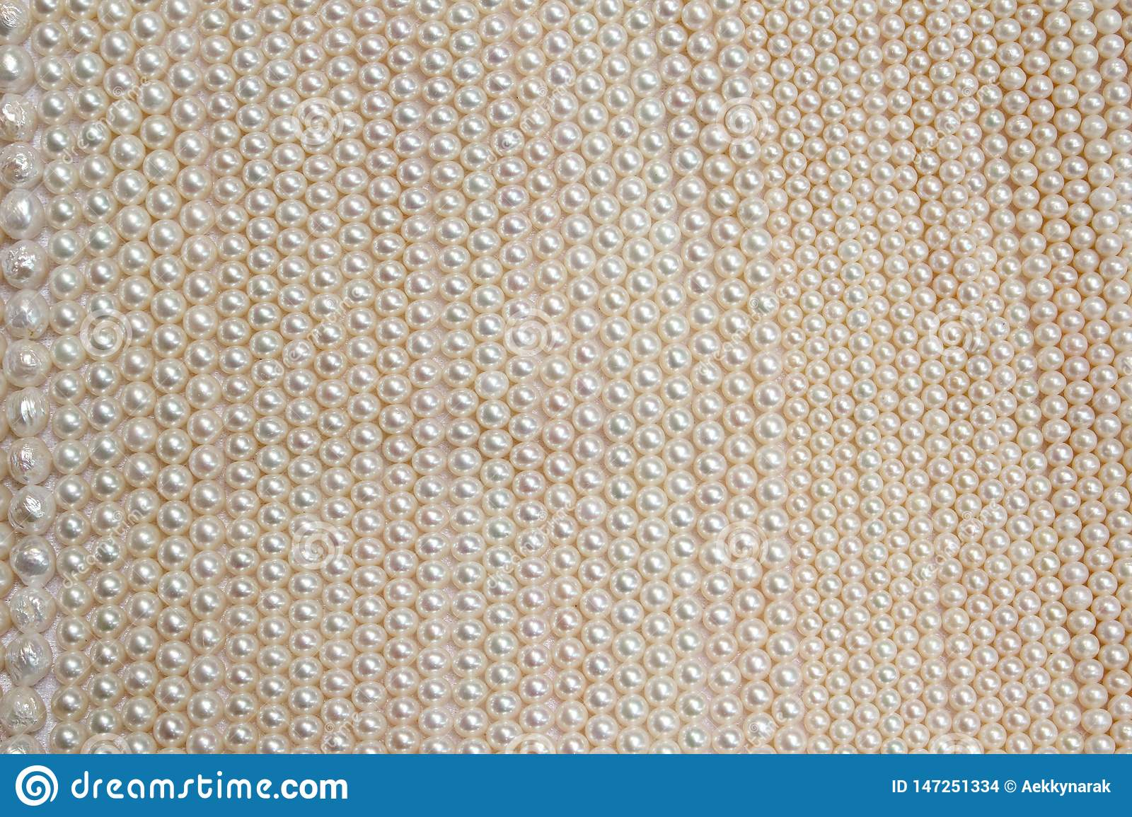 Pink Pearl For Background Stock Photo Image Of Pile