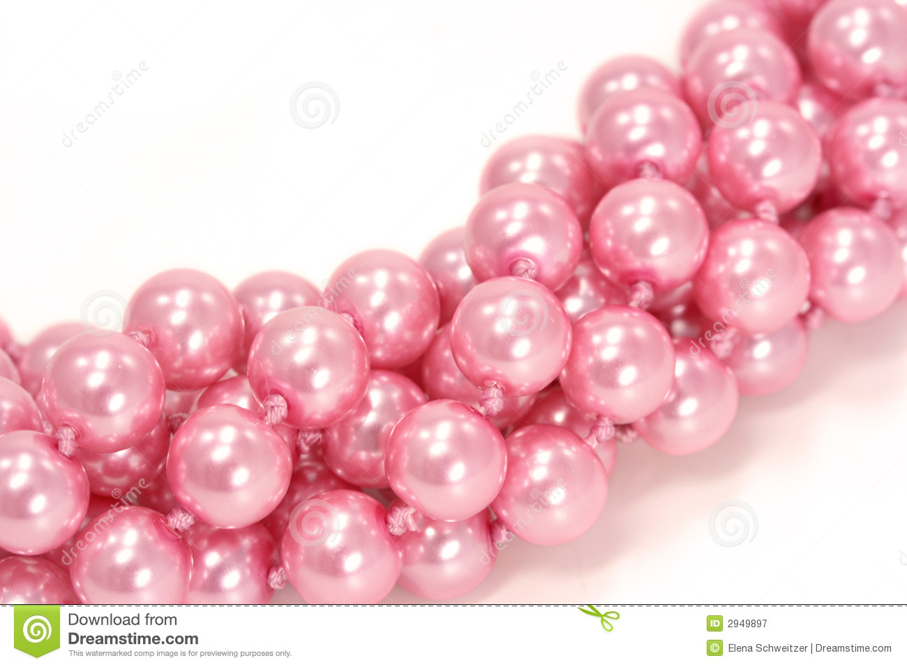 Pink pearls stock image. Image of give, mother, brilliant ...