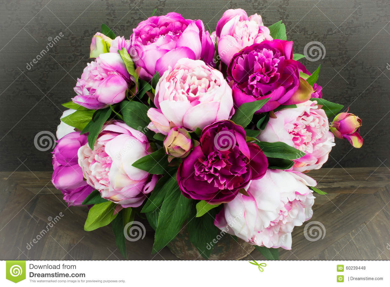 pink peony rose flowers bouquet in vase stock photo image 60239448. Black Bedroom Furniture Sets. Home Design Ideas