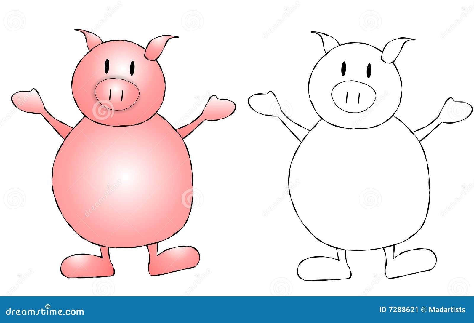 Pink Pig Clip Art Stock Image - Image: 7288621