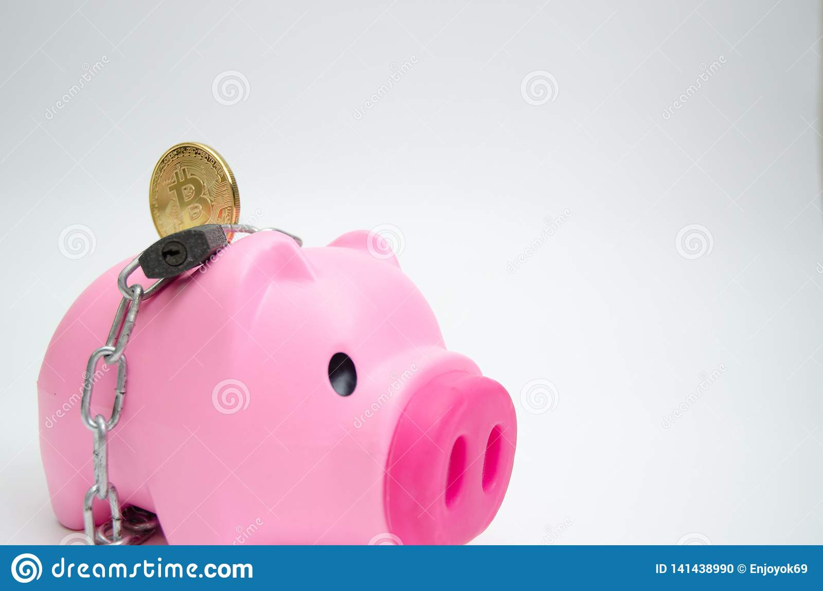 Pink pig jar For coin.