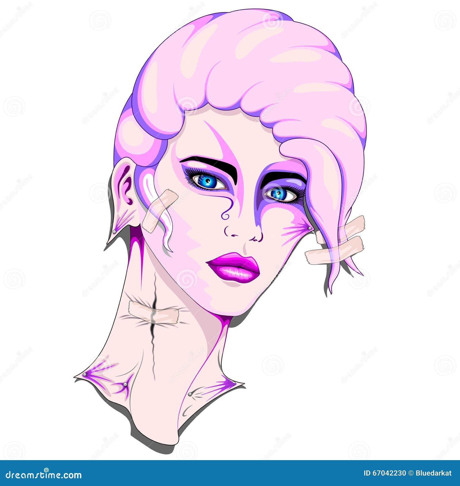 Pink Plastic Clone Girl