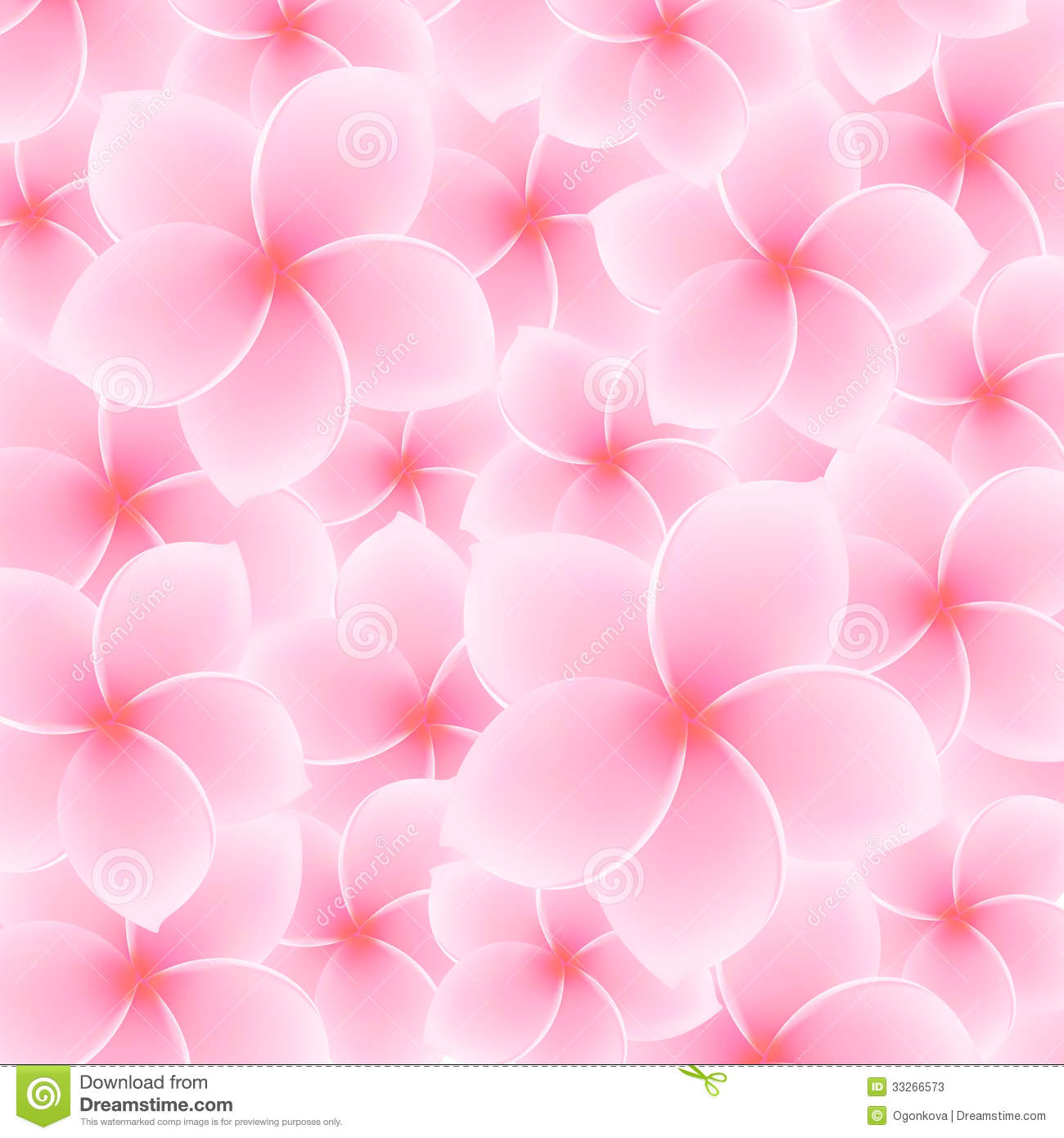 Tropical Pink Plumeria, Frangipani pattern (background) - Asian flower ...