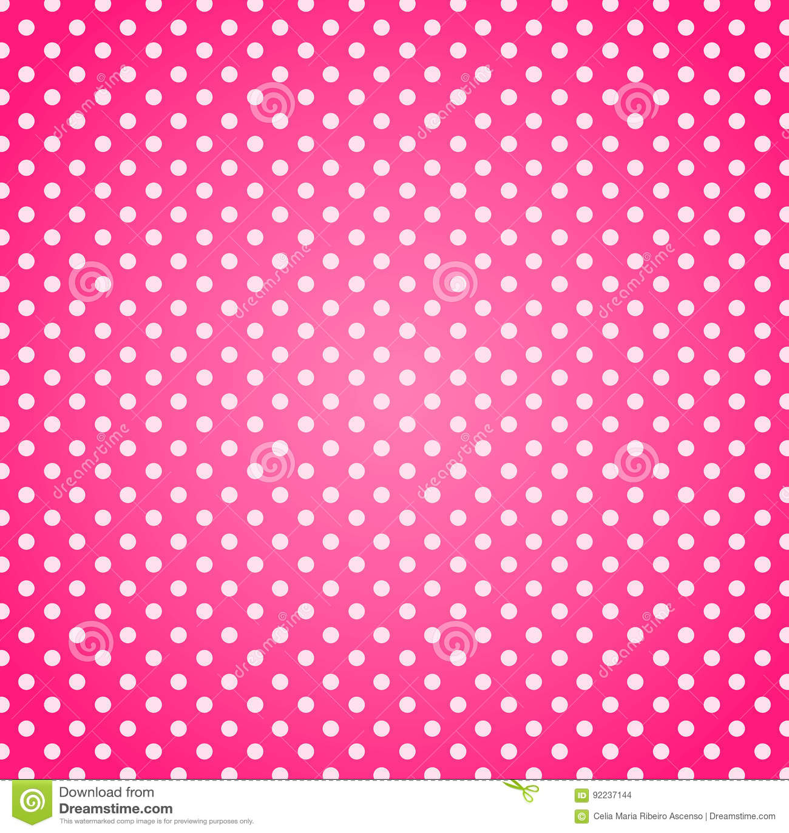Pink polka dots background