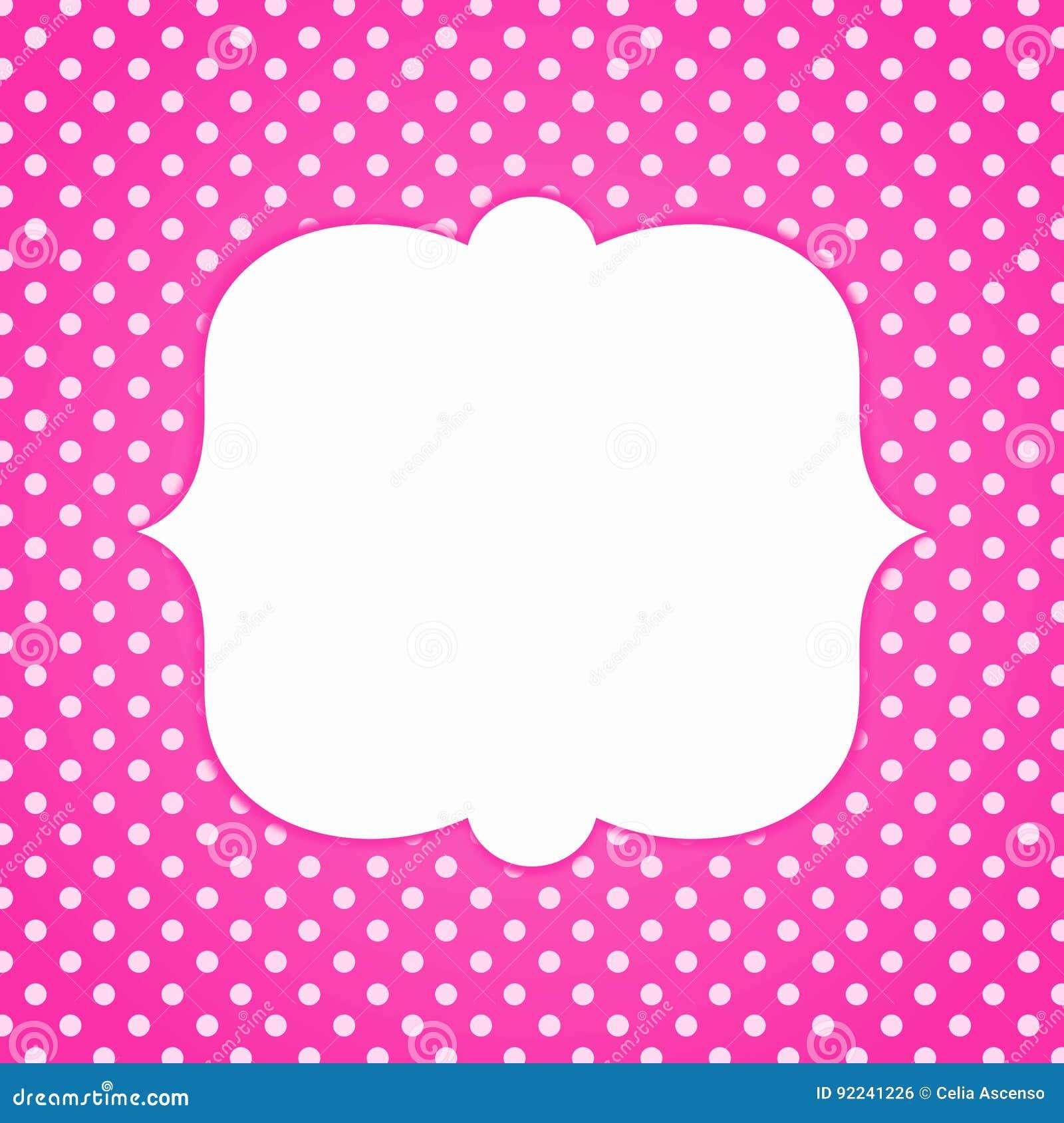 pink polka dots invitation card stock illustration illustration of