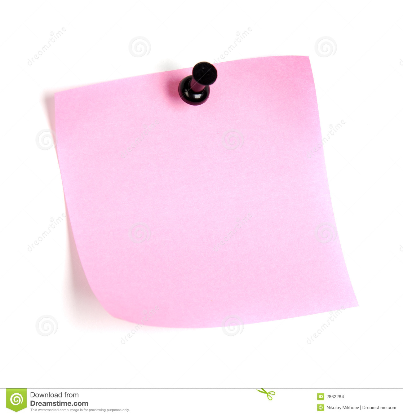 Post: Pink Post-it Stock Photo. Image Of Sending, Design, Post