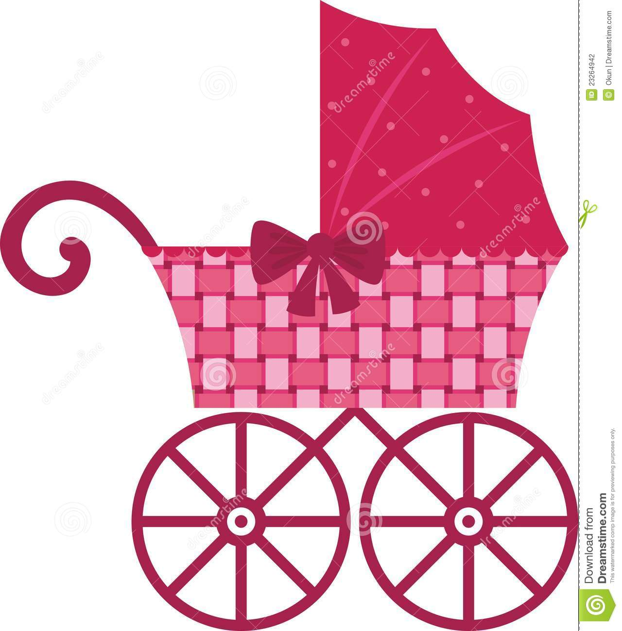 9ce78c2a7 Pink Pram stock vector. Illustration of wheel
