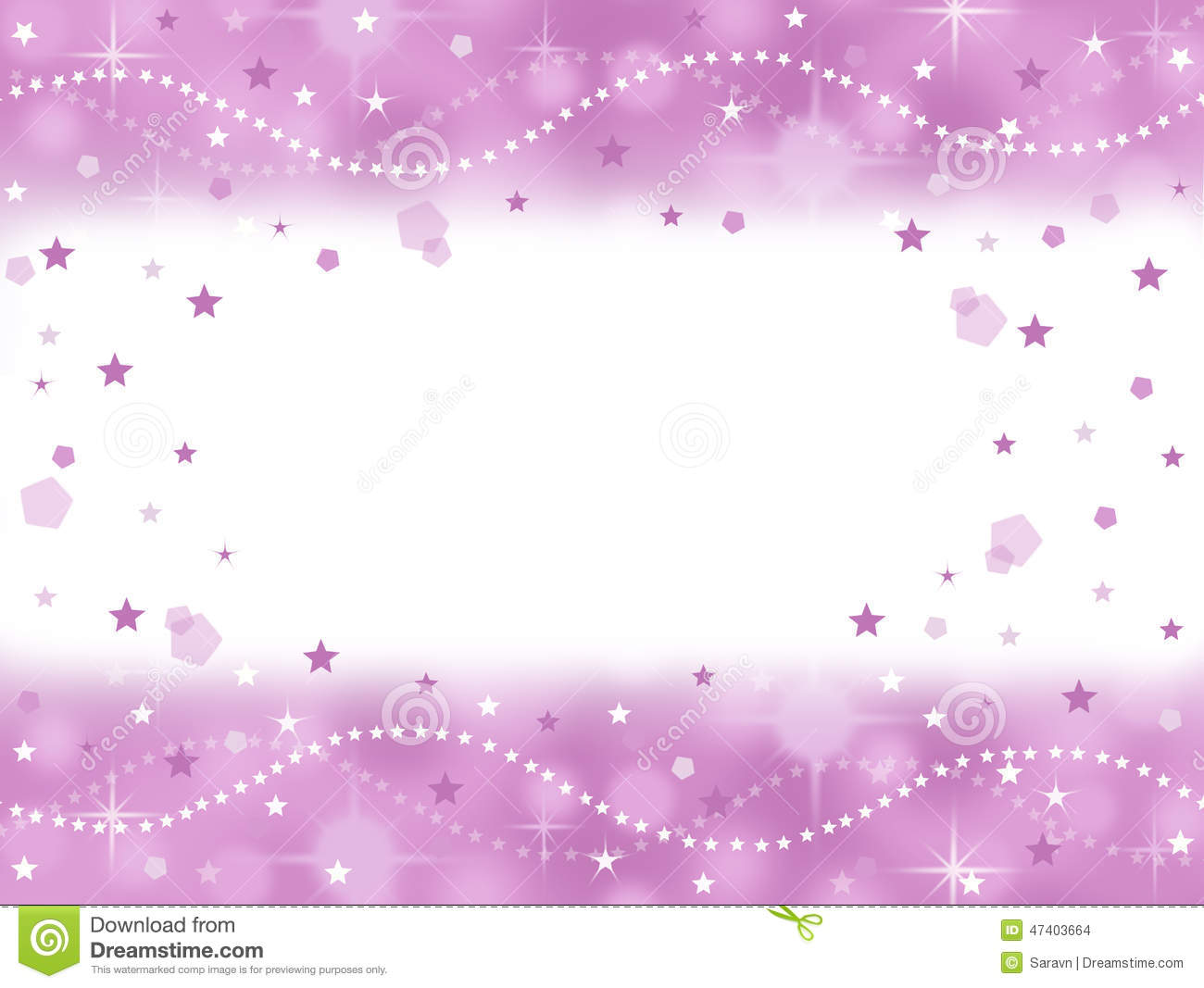 Pink Princess Bling Party Background With Blank Space