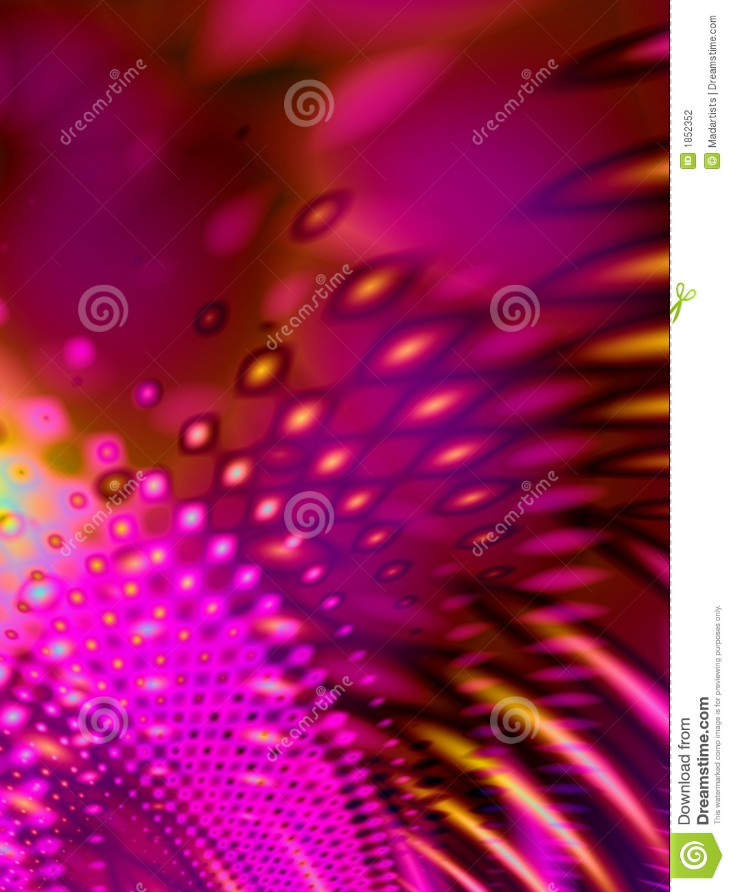 Pink Psychedelic Retro Pattern