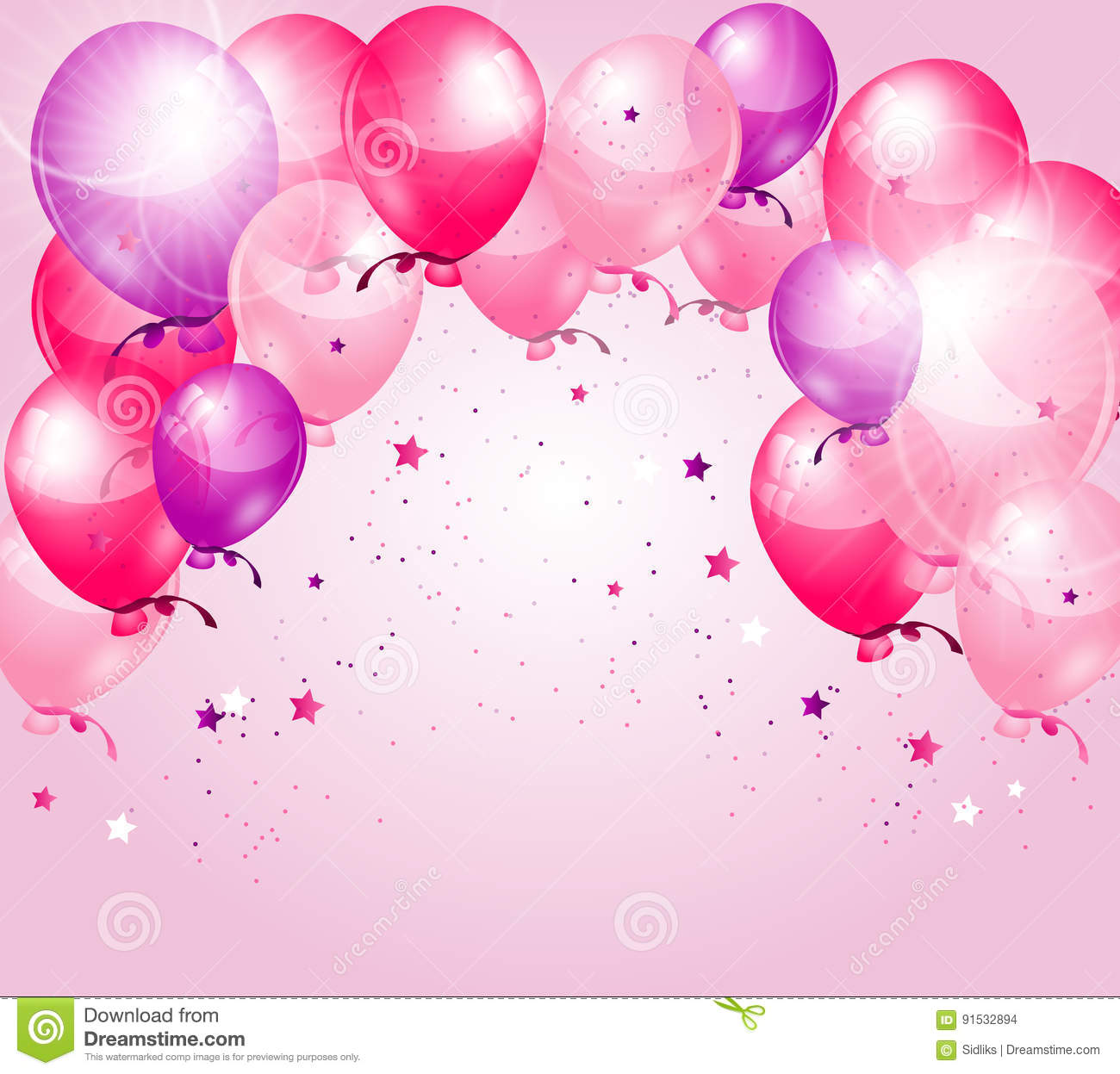 pink birthday balloons wallpaper wwwpixsharkcom