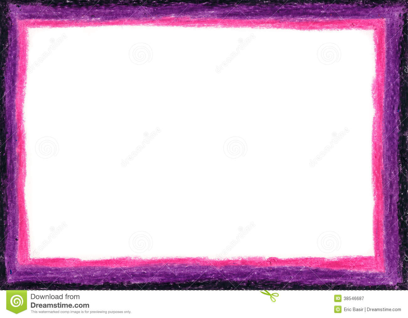 Royalty Free Stock Photography Pink Purple Empty Frame Crayon White Center Image38546687 on Violet Border Clip Art