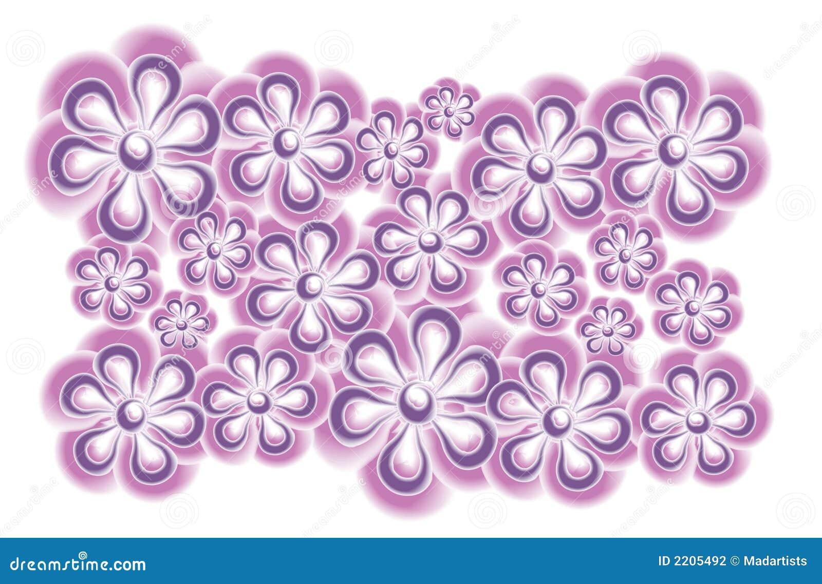 Pink Purple Flower Clip Art Stock Vector Illustration Of Elements