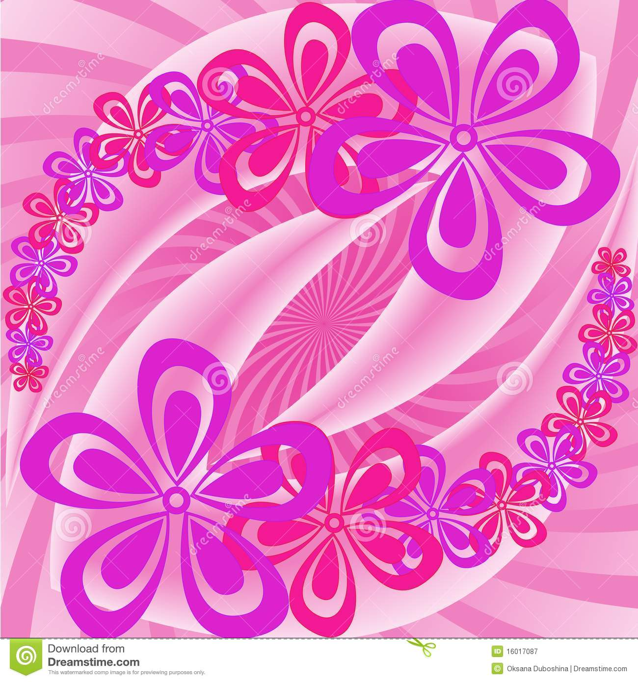 Pink and purple flowers stock vector illustration of invitation pink and purple flowers mightylinksfo