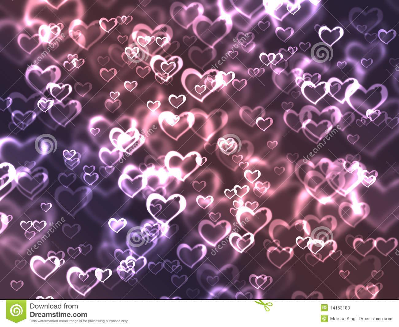 background of pink and purple hearts   Purple Hearts And Stars Background