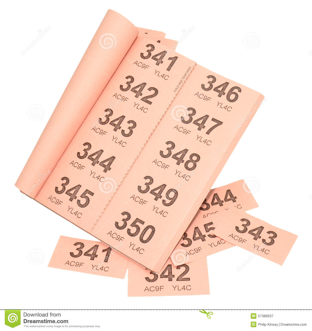 pink raffle tickets stock photo image  pink raffle ticket book royalty stock photography
