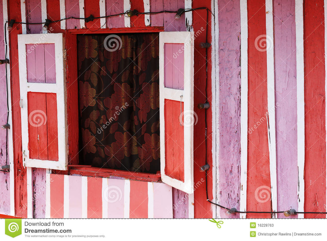 Pink, Red and White House