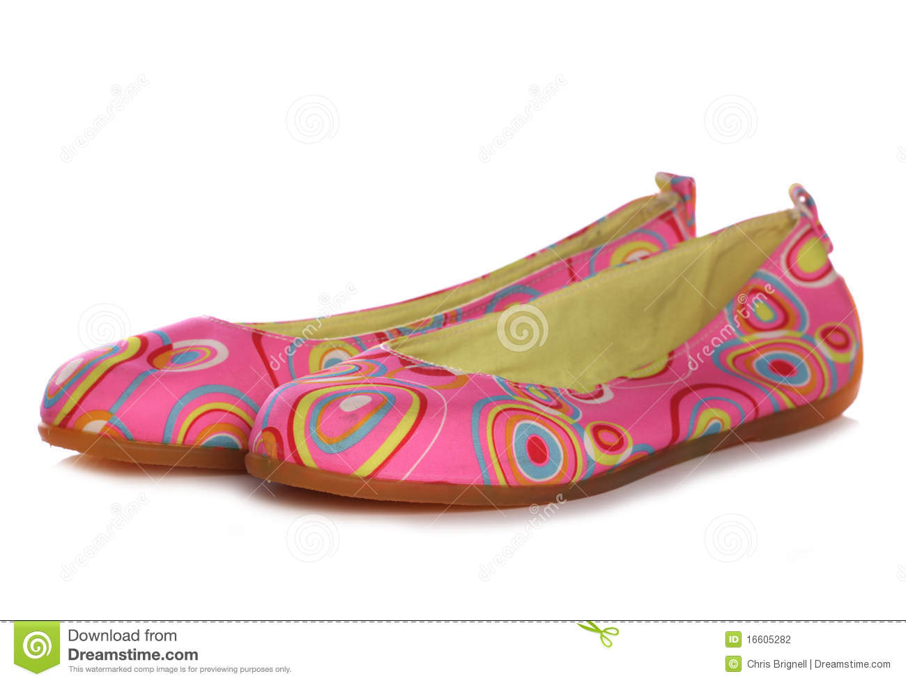Stock Photography: Pink retro womens slip on shoes