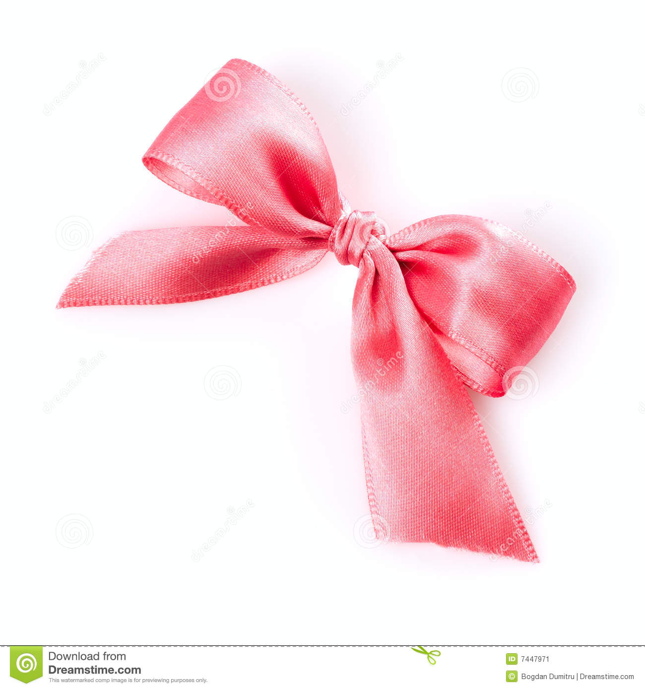 Pink Ribbon isolated o...