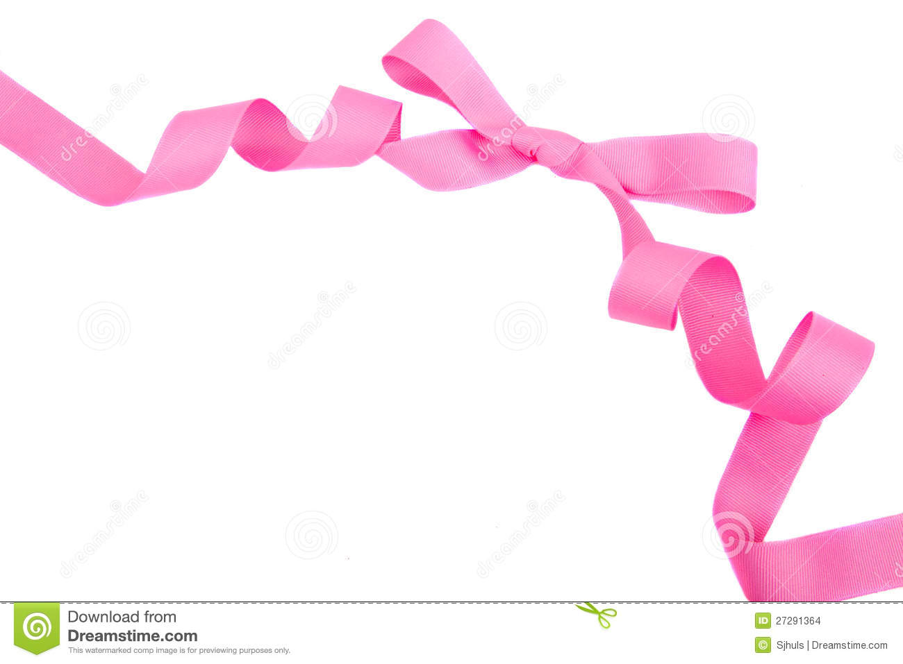 Pink Ribbon And Bow Isolated Stock Images - Image: 27291364