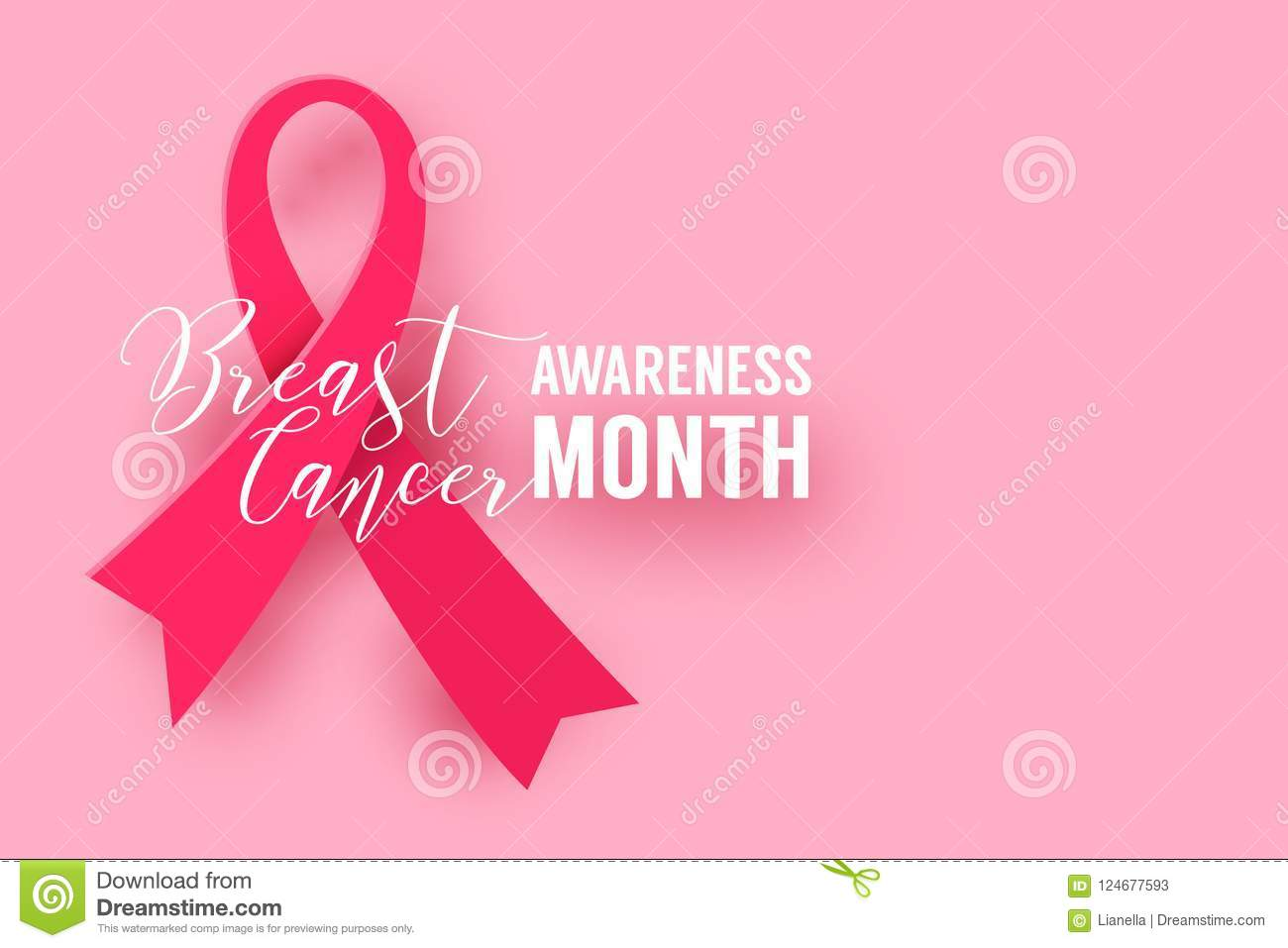 Pink Ribbon Symbol Of Breast Cancer October Awareness Month Campaign