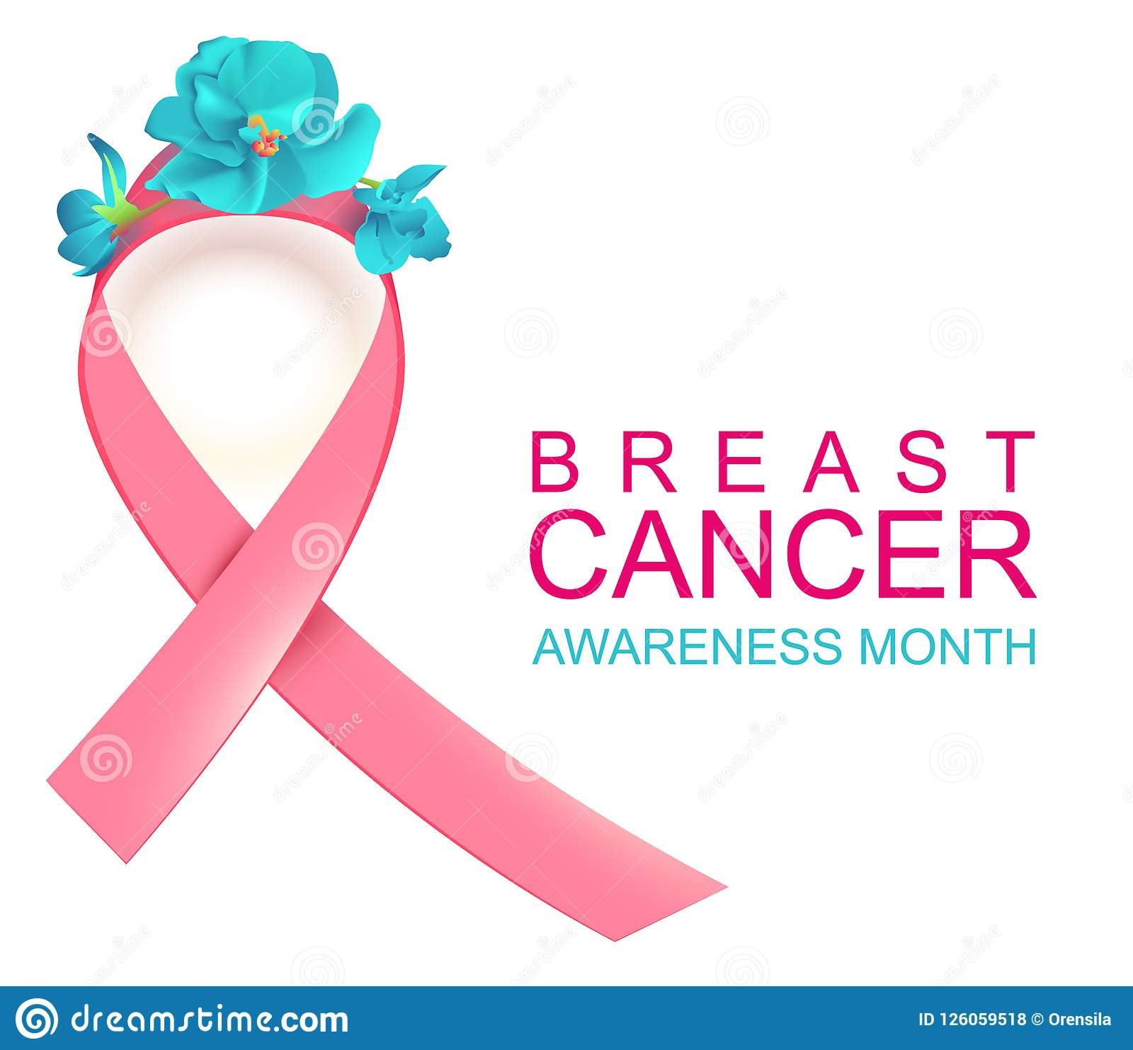 Pink Ribbon Symbol National Breast Cancer Awareness Month Stock