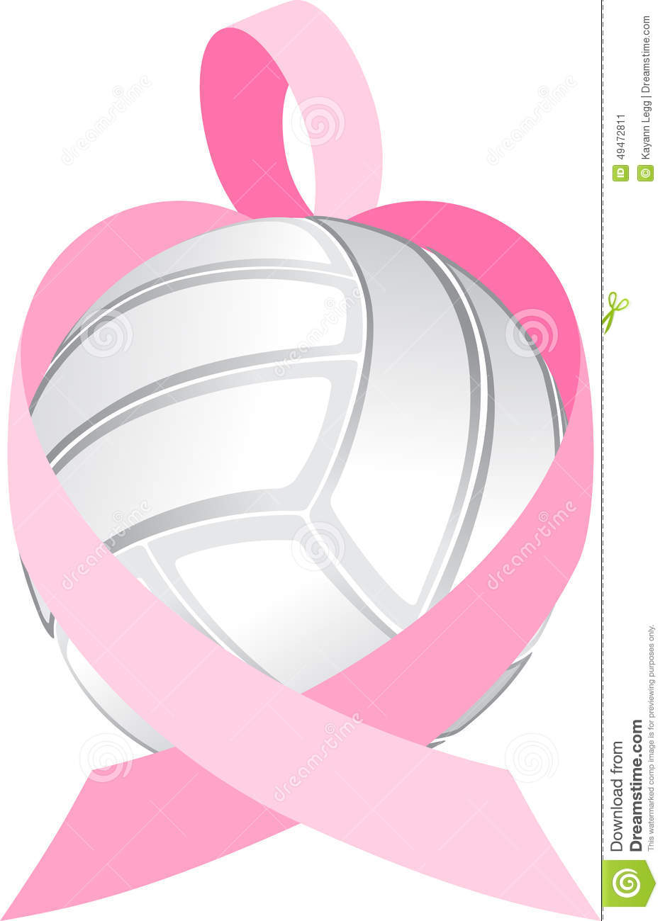 Illustration of a breast cancer ribbon forming a heart wrapped around ...