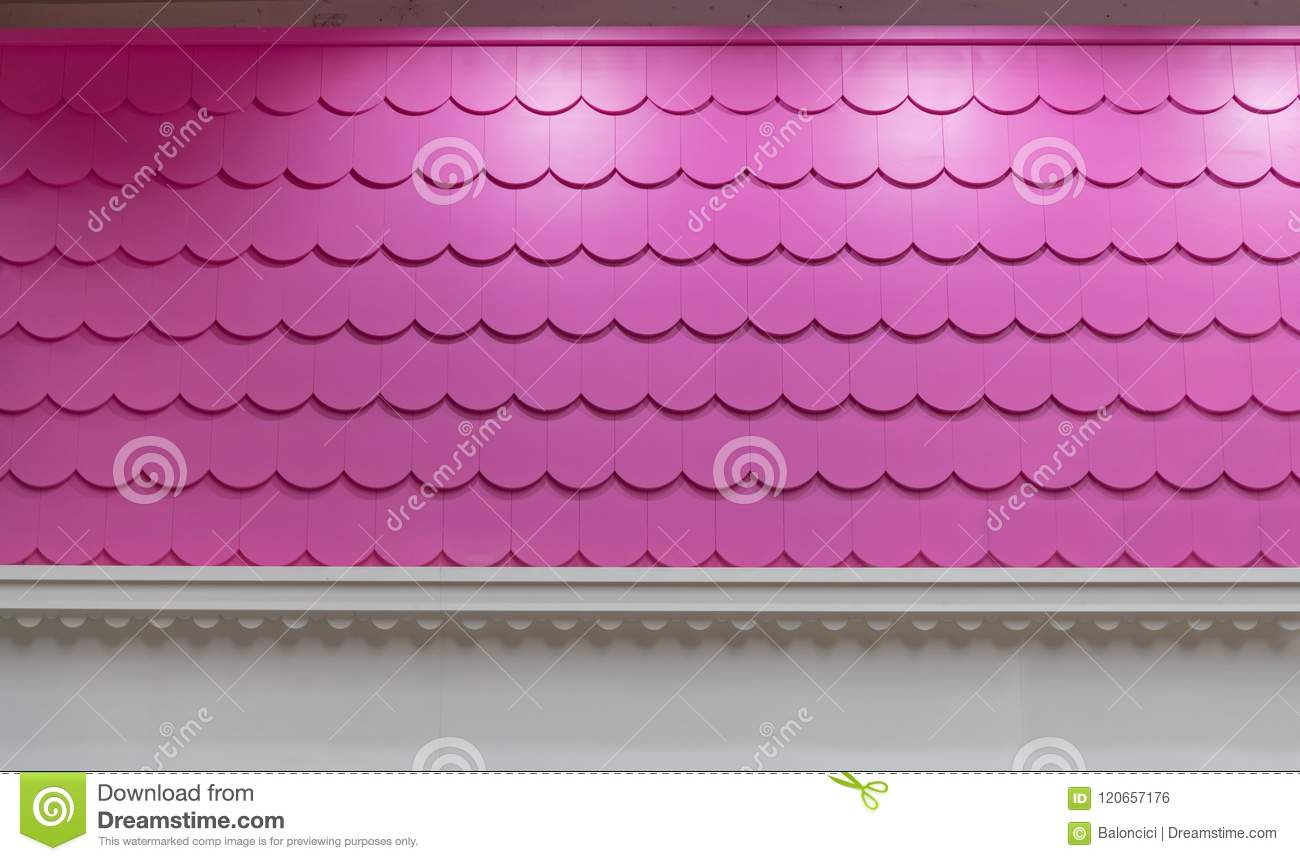 Pink Roof Tiles stock photo. Image of house, roof, decoration ...