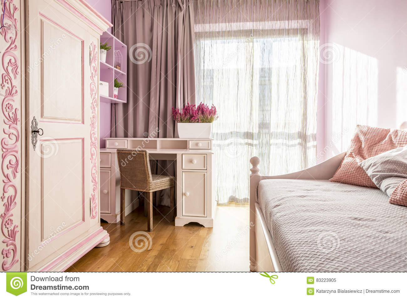 Pink room for a girl