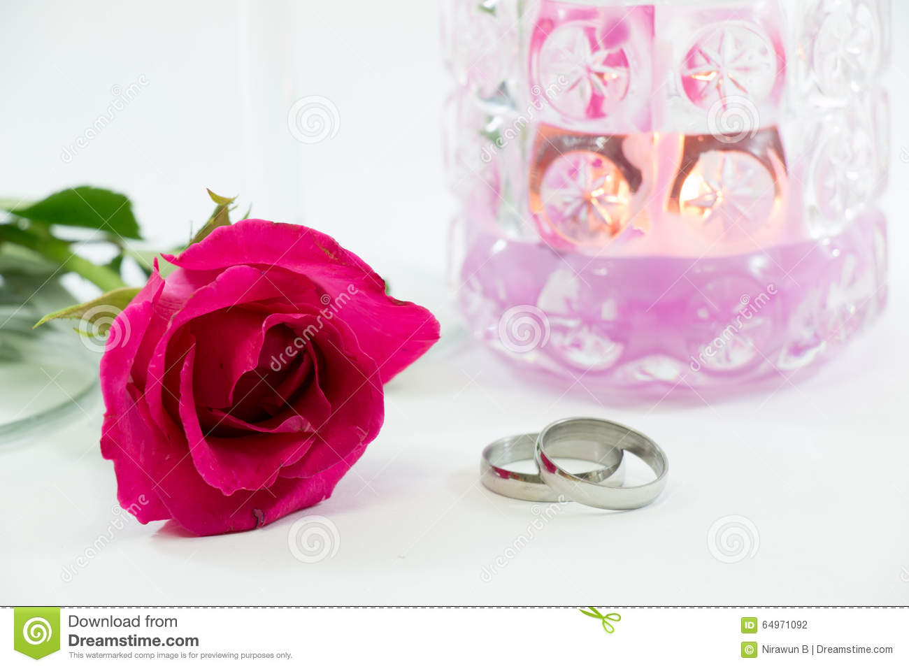 Pink Rose, Engage Ring With Love In Valentines Day Stock Photo ...